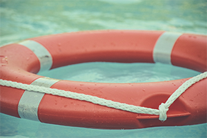 Life ring in the water Psychological First Aid
